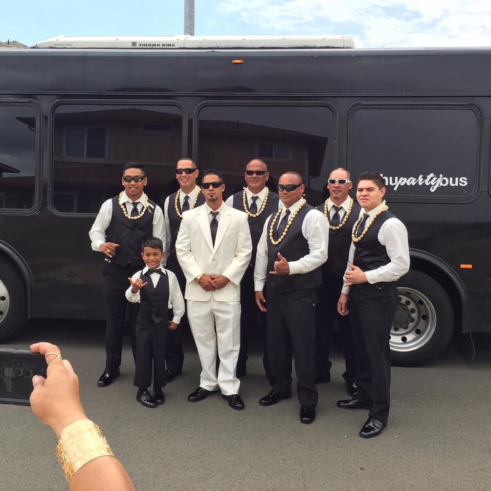 Wedding Party Bus Oahu